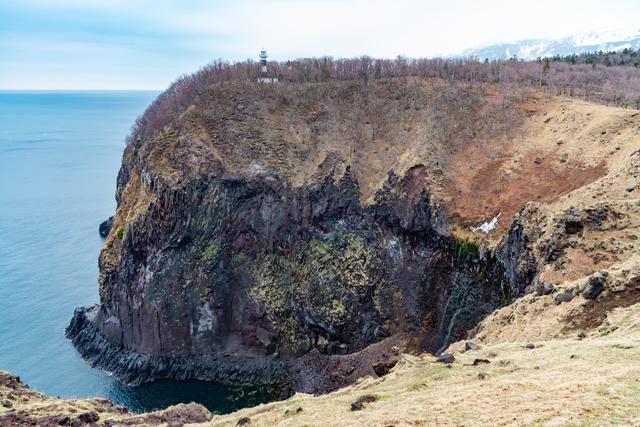五湖の断崖
